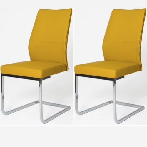 Home Essential  AES  Chairs Mustard (Pair)